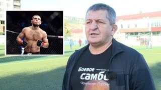 Khabib's father delivers press statement in Dagestan (TAPE)