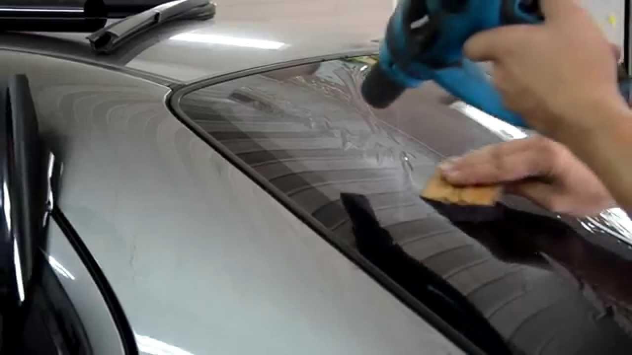 Как затонировать заднее стекло своими руками видео