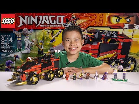 NINJA DB X - LEGO NINJAGO 2015 Set 70750 - Time-lapse Build. Unboxing & Review!