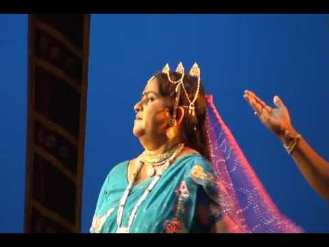 Smt.pratibha As Mandodari In Prachanda Ravana Kannada Mythological Drama video