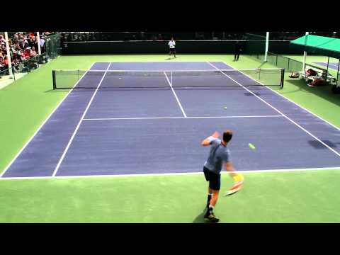 Andy Murray Practice 2013 BNP Paribas Open Part 1