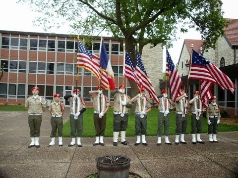 Boy Scout Color Guard in Band Fest