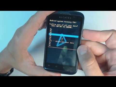Alcatel OT 991 - How to reset - Como restablecer datos de fabrica