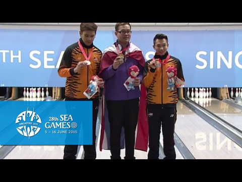 Bowling Men's Masters Victory Ceremony | 28th SEA Games Singapore 2015