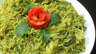 Palak Pulao Recipe (Spicy) - Healthy & Spicy Palak Pulao Recipe -Spinach rice recipe - Spinach Pulao
