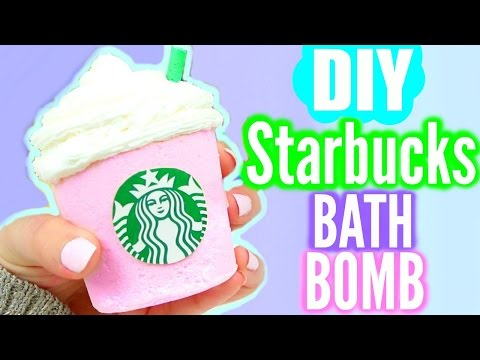DIY Starbucks BATH BOMB! - YouTube