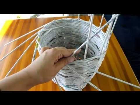Jak Zrobić Wazon/doniczkę Z Wikliny Papierowej Instrukcja