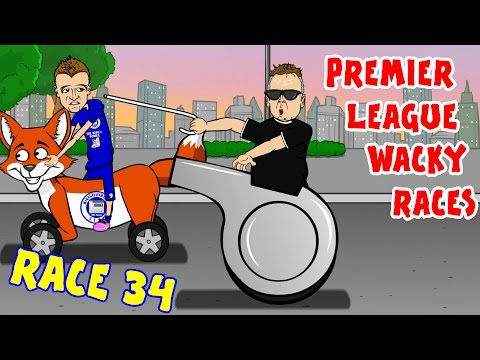 Premier League Wacky Races - Stage 34! (Stoke vs Tottenham 0-4, Leicester vs West Ham 2-2)