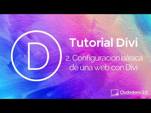 Configuración básica de un sitio WordPress con Divi