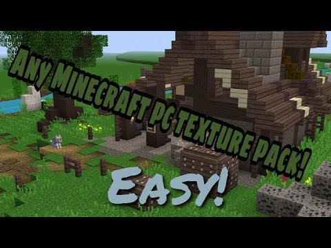 How to get any Minecraft pc texture pack on MCPE! (android only sorry ios)