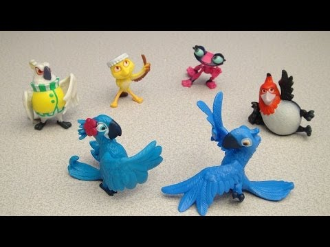 RIO 2 JEWEL/PERLA AND PEDRO MINI FIGURE PLAYSET VIDEO REVIEW