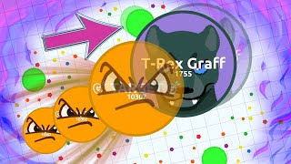 Agar.io - EXTREME AGARIO SOLO GAMEPLAY // AGARIO POPSPLIT (Destroying Teams in Agar.io)