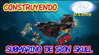 Super Heroes LEGO Marvel Iron Skull Sub Attack Set 76048 Unboxing Speed Build Review en Español