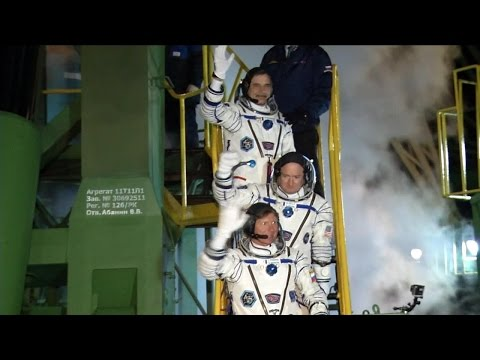 Expedition 43 Launches to ISS for a Yearlong Mission