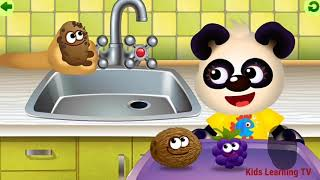 Baby Panda Learn Names of Fruits, Learn Colors, Cut The Fruits & Food Puzzles - Kid's Learning TV