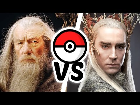 Hobbit Pokemon Battle - Gandalf Vs Thranduil ( Parody )