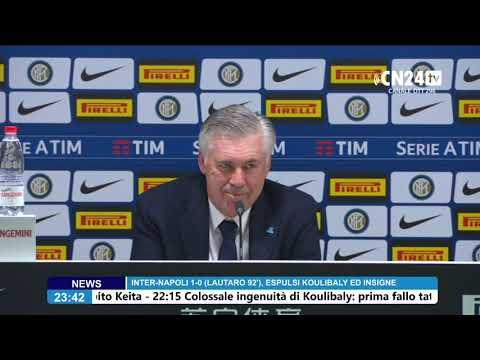 conferenza stampa dopo Inter - Napoli