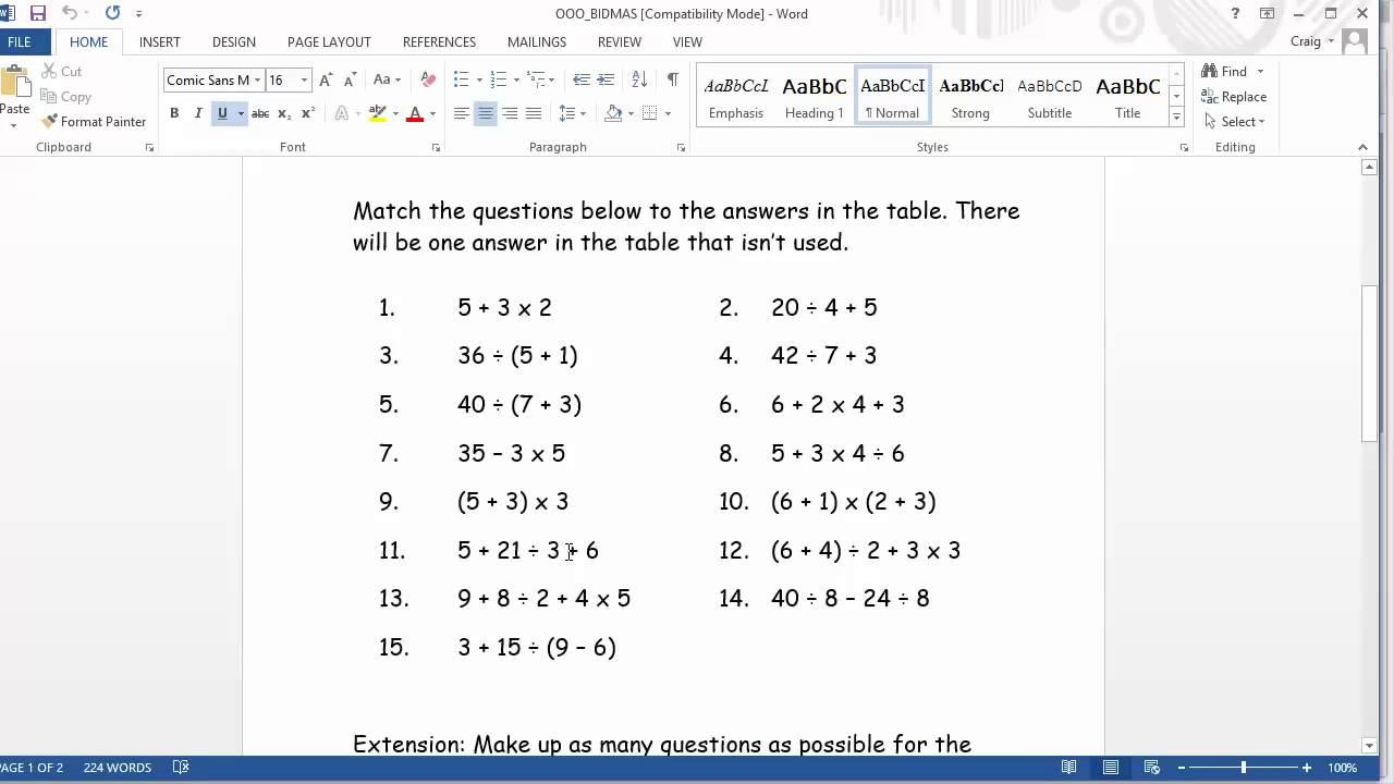 Ordering fractions decimals and percentages worksheet ks3