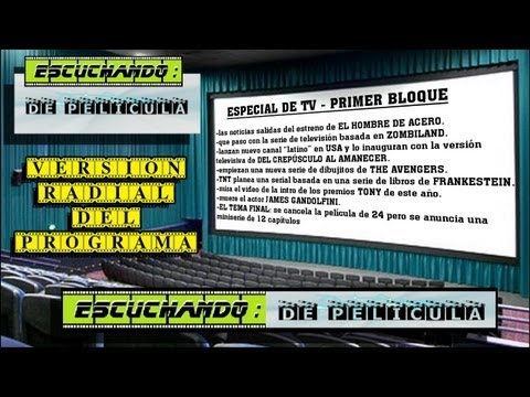 Escuchando: DE PELÍCULA - especial TV - 1er BLOQUE - Superman / From dusk till dawn/ Zombieland