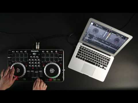 Numark Mixtrack Quad DJ Controller with djay Pro by Algoriddim - Scratch Session