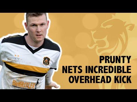 Stunning overhead kick from Prunty