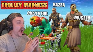 Driving Muselk & Bazza To the Depths of Insanity - Fortnite Battle Royale