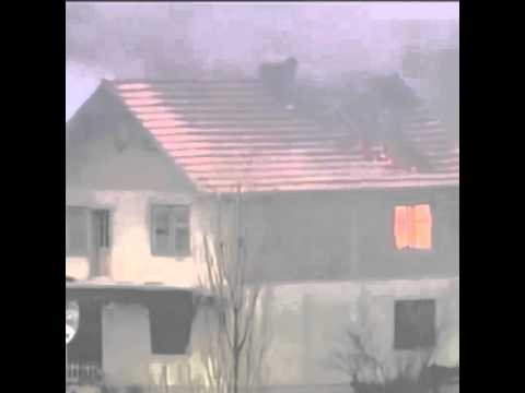 Serbs burn the house of Albanian people in Kosovo