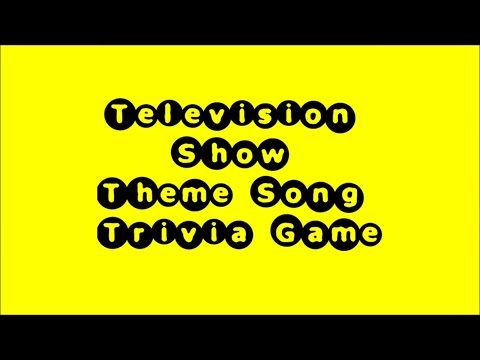 Television Theme Song Trivia Game - 50 Songs!