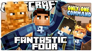 Minecraft Superhero   FANTASTIC FOUR   Only One Command (Minecraft Custom Command)