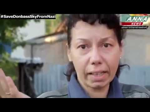 Civilian people of Slavyansk curse Poroshenko and the Ukrainian governmentrnment 09 06 14