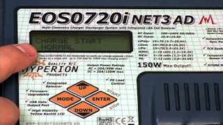 How to charge, discharge, cycle, and set memory - NiMH pack - Hyperion EOS720i NET3 Charger