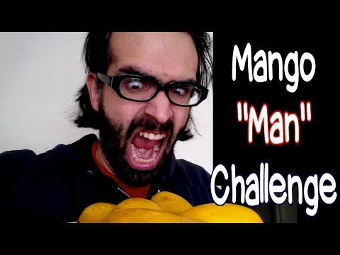 The Mango Man Challenge - 10 Mangoes w/ Peels in 5 Minutes? #GoInDry | FreakEating Challenge 65
