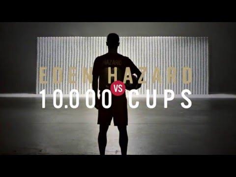 Eden Hazard vs. 10.000 cups – Lotus Perfect Kick Shooting
