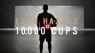 Eden Hazard vs. 10.000 cups – Lotus Perfect Kick Shooting