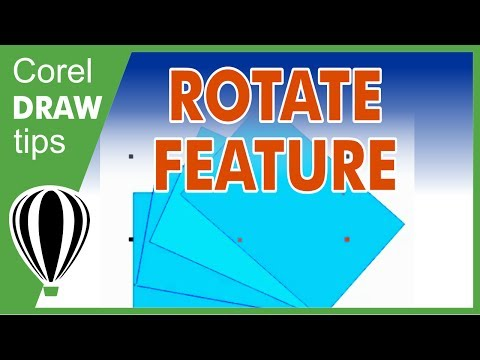 Using rotate feature to create a nice graphic using CorelDraw