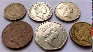800$$$ Price Queen Elizabeth ll Coins Collection 1992.1997 United Kingdom Pence Coin