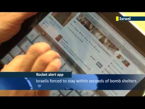 Israel under attack: new smartphone app tracks Gaza rockets