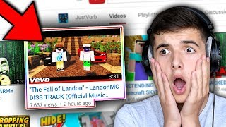 "REACTING TO DISS TRACK ABOUT ME.. ( ""The Fall Of Landon"" - DISS TRACK )"