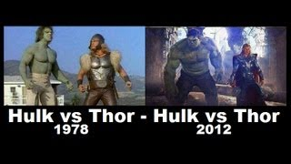 Hulk vs Thor 1978 - 2012   [1978 Comparison 2012 ]