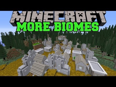 Minecraft: MORE BIOMES (100 BIOMES AND HUGE VILLAGES!) Mod Showcase