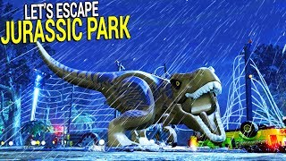 Welcome to Jurassic Park - Epic Escape from Dinosaurs | Lego Jurassic World Gameplay
