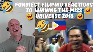 FUNNIEST PINOY REACTIONS TO MISS UNIVERSE 2018 WINNER - CATRIONA GRAY | REACTION! LOL!😂😂