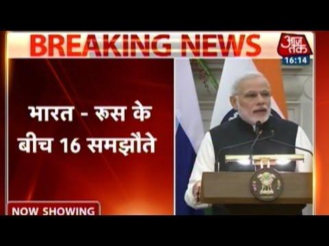 Modi, Putin ink 16 deals for bilateral co-operation