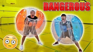 MOST DANGEROUS CHALLENGE EVER!! (GIANT BALLOON SUMO CHALLENGE)