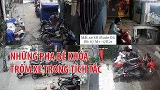 Những pha bẻ khóa trộm xe máy trong tích tắc ở Sài Gòn