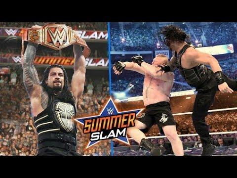 wwe SummerSlam 2018 highlights Roman Reigns vs Brock Lesnar thumbnail