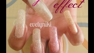 UÑAS AZUCARADAS  / SUGAR EFFECT nails /
