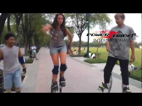 Jumper activities at Sanam Luang by James R. ชาวต่างชาติลอง PowerStrider (part1)