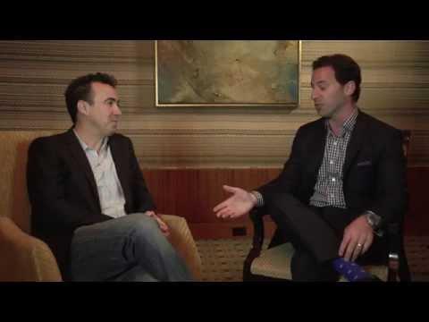 Heineken USA's Quinn Kilbury sits with Silverback Social CEO Chris Dessi