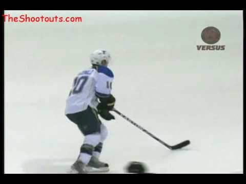 Andy McDonald (STL) vs. Marty Turco (DAL) Shootout November 25, 2009 Video